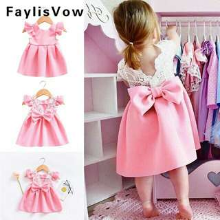 *FREE DELIVERY to WM only / Ready stock* 18month gal princess dress each as shown in design/color pink, blue. Free delivery is applied for this item.