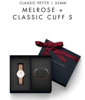 Daniel Wellington Set Cuff + Watch