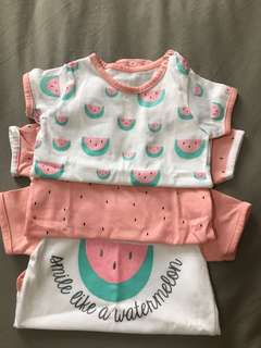 Watermelon onesies bundle