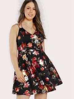 Pre Order Plusize dress Php 350 free size fits  Xl to xxl  #jss