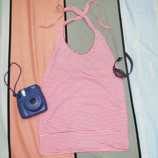 Backless Twist Knot Halter Top