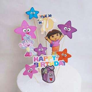 *FREE DELIVERY to WM only / Ready stock* Dora cake toppers set each as shown in design/color. Free delivery is applied for this item.