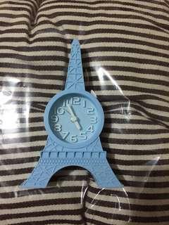 Eiffel blue clock