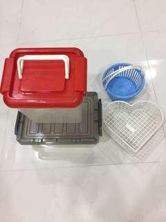 Set Of 4 Pcs For $6-Storage Box & Small Cute Basket