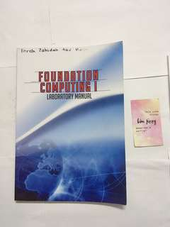 Foundation Computing I - Lab Manual