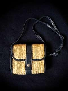 夏日藤袋 藤織袋 斜咩袋 小物袋 斜孭袋 單肩包 shoulder bag crossover bag 日系 韓系