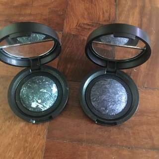 Laura Geller Blue/Black and Green/Grey Shimmery Eye Shadow Bundle