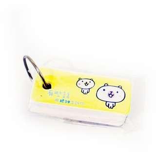 吊牌 標籤卡 白熊標籤字母卡 背單字使用