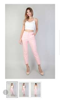 MpgLabel Valen Tapered Pants in Salmon Pink