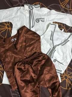 (0-6mths) Jubah - new, Baju Melayu - used