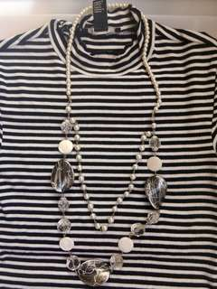 Egg long necklace