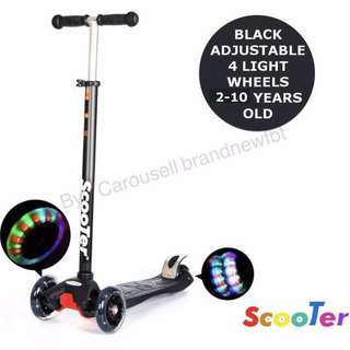 Kick Scooter kids scooter 4 wheels with LED lights