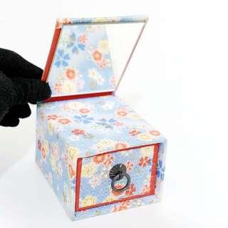 日本和風收納盒 小抽屜 鏡子收納盒 紀念品 擺飾 日本帶回
