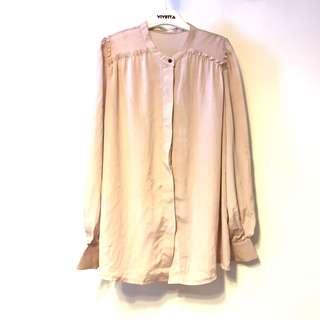 Chiffon details shirt