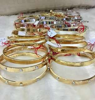 New Cartier Inspired in Pure and Pawnable Gold Bangles