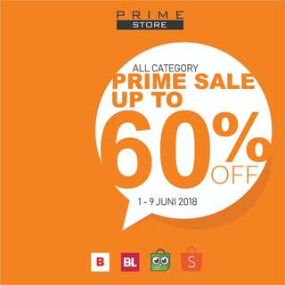 PRIME SALE ALL CATEGORY  - UP TO 60% OFF