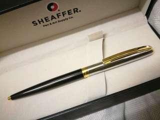 SHEAFFER SAGARIS BLACK/CHROME GOLD BALLPOINT PEN