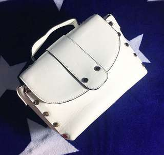 Stradivarius white bag