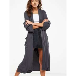Cotton On Gray Long Duster Kimono (SIZES XS TO M avail RRP 1600)