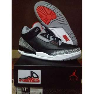 Brand New Size 11.5 US Air Jordan 3 'Black Cement'