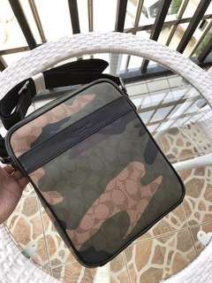 Authentic Coach camouflage Body bag for men