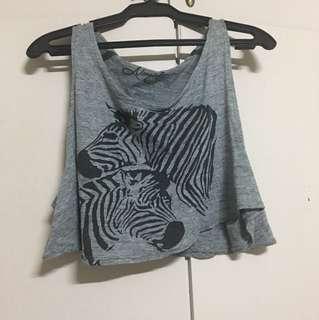 Zebra croptop