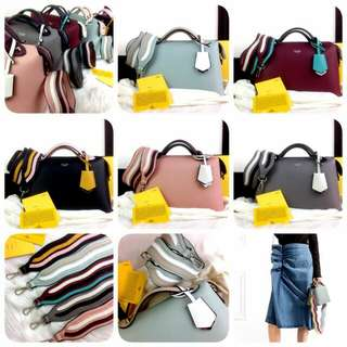 [FENDI BOSTON BY THE WAY COLORBLOCK 77228] Tas Fashion Wanita Impor Murah
