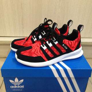Adidas SL Loop size 9 Solar Red Used Complete