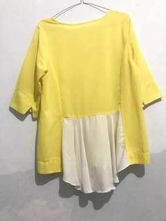 Yellow top dipakenya lucu bgt ini favorite sblm berhijab