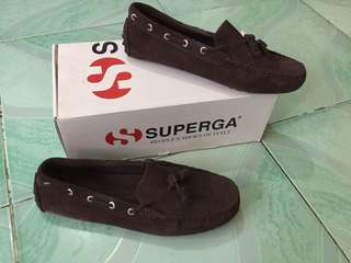 Superga brown loafers