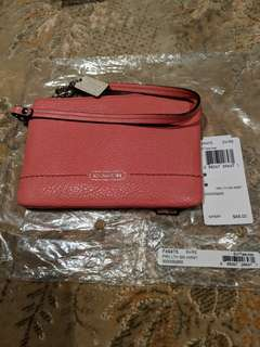 Authentic Coach Parker Leather Wristlet