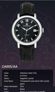 Catena ~ 瑞士製,機械自動男錶,不需電池,41mm 全新,有吊牌及原裝盒