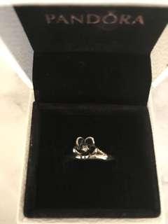 Pandora black flower ring brand new size 56