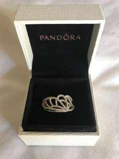 Pandora Gorgeous CZ ring sterling silver Size 54 brand new