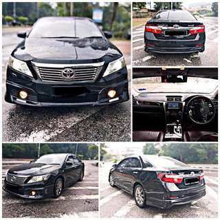 SAMBUNG BAYAR/CONTINUE LOAN  TOYOTA CAMRY X SPEC 2.0 AUTO YEAR 2014 MONTHLY RM 1600 BALANCE 5 YEARS 4 MONTHS ROADTAX VALID LEATHER SEAT  DP KLIK wasap.my/60133524312/camry
