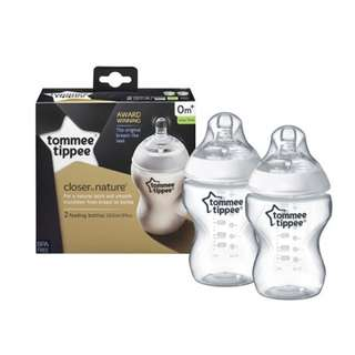 Tommee Tippee Closer To Nature BPA Free Bottles (260ml x 2)