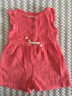 Zara jumpsuit size 6-9months
