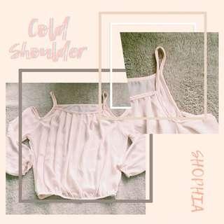 Cold Shoulder - Long Sleeves