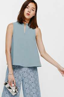 BNWT Love Bonito Helile High Neck Zipper Top