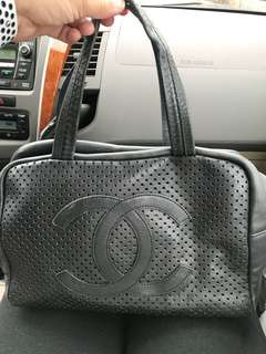 Chanel leather bowler bag