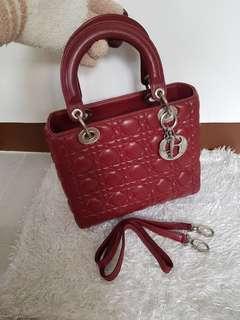 Authentic Christian Dior Lady Dior 2Way Bag