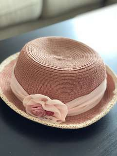 Pink Japanese Style modern hat for girl