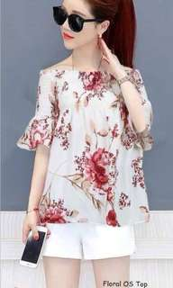 FLORAL OS TOP Fits S To L  Price : 350