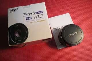 Ready lagi lensa Fix Mirrorless Canon meike 35mm f1.7