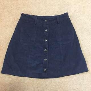 Peppermayo Navy Mini Skirt