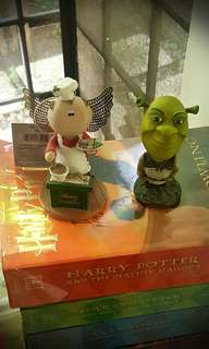 Shrek Bobble Head and Angel Cook Figurine
