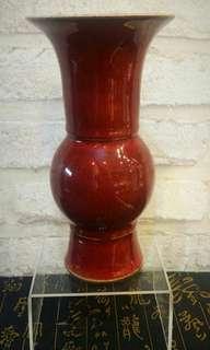 Antique / Vintage Red Small Vase 古玩真品 红釉凤尾小瓶