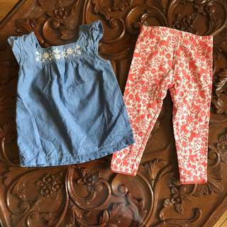 Carter's Blouse and Leggings Set