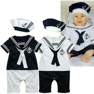 jumper anak sailor dan topi