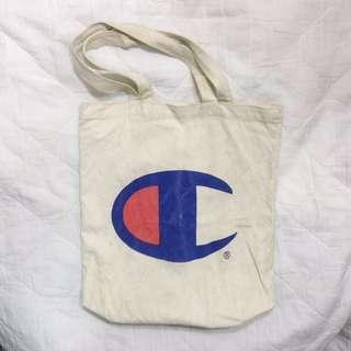 古著 🇯🇵 / Champion tote bag 手提袋 二手 厚磅